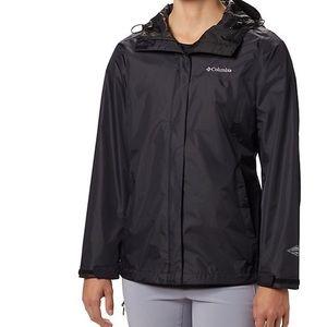Columbia black women rain coat